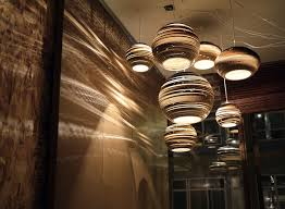 big round pendant lamp side small round lamp on white color ceiling plus sleek wall closed amazing contemporary lighting