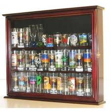 tupperware shot glasses souvenir state hard rock shot glass and tall shooter display case