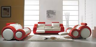 italian furniture designs. Vig Furniture T 27 - Contemporary White And Red Leather Sofa Set Italian Designs