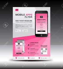Design Flyer App Mobile Apps Flyer Template Business Brochure Flyer Design Layout