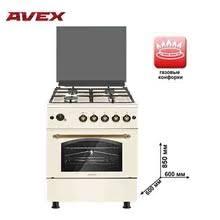 <b>Газовая плита</b> с газовой духовкой <b>AVEX FG</b> 6021 YR, с чугунными ...
