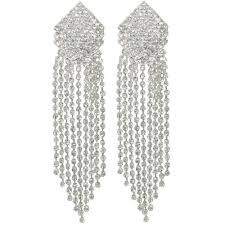 panache diamante drop chandelier style clip on earrings