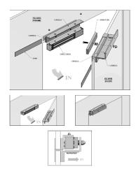 gianni u300zlg z l bracket with u channel glass door mount for mini maglock