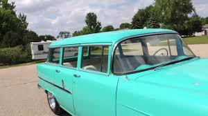 55 chevy wagon 4dr walk around - YouTube