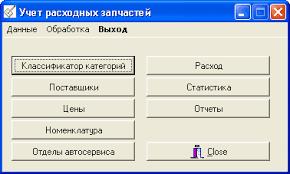 База данных Каталог автозапчастей interbase Дипломная работа  контрольная работа по програмированию
