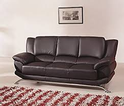 modern leather couch. Modern Line Furniture 9908Bs Contemporary Leather Sofa, Black Couch O