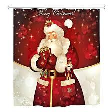 santa shower curtain belt merry