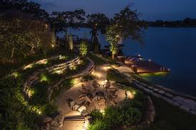 Dock Lighting Ideas Fire Pit And Dock Lighting Vacation Lake Home Landscape