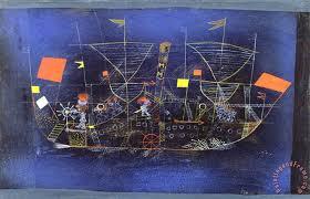 the adventure ship 1927 painting paul klee the adventure ship 1927 art print