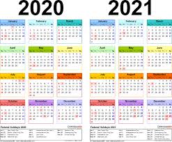 Online monthly calendar 2021 and printable 2021 holiday calendar are also available here. Template 2 Pdf Template For Two Year Calendar 2020 2021 Landscape Orientation 1 Page In Col Excel Calendar Free Calendar Template Monthly Calendar Template