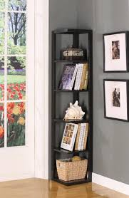 living room corner bookshelf
