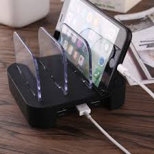 Multi-device USB Charging Station Organizer 3 Port Hub for Cell Phone Tablet