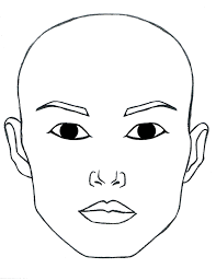 Face Charts To Print Blank Open Eyes Face To Print And Laminate Or Paint For Menu