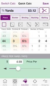 QuiltSandwich : Quilt Fabric Calculator   Apps   148Apps & ... QuiltSandwich : Quilt Fabric Calculator screenshot 4 ... Adamdwight.com