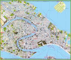 tourist map of venice city centre