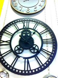 36 inch wall clock inch wall clock clocks metal oversized features heavily seeded antique glass panels