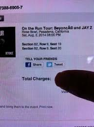 Details About Beyonce Jay Z Rose Bowl Aug 2 2 Floor Seats Row 9