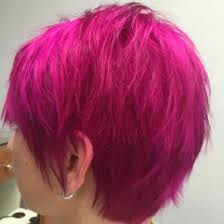 vibrant pink hair
