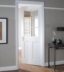 internal white doors with glass for dining room