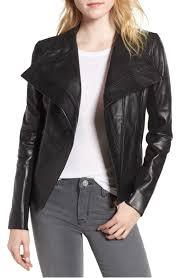trouvÉ d front leather jacket black nordstrom anniversary 2018