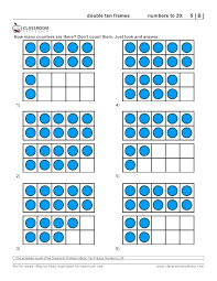 Free Math For Kindergarten Ten Frame Worksheets Double Kids All ...