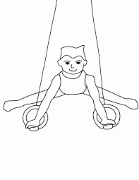 mens gymnastics coloring pages rings