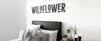 decorative wooden letters custom wall