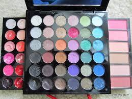 sephora ping bag makeup palette blush and bronzer swatch