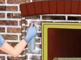awesome how to clean soot from brick with pictures wikihow within fireplace brick cleaner