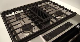 downdraft oven range. Contemporary Downdraft KitchenAid KSDG950ESS Downdraft Range Cooktop On Oven A