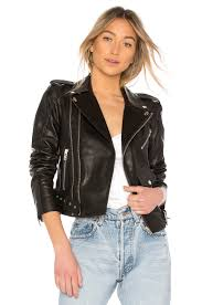 palmer girls x miss sixty leather motorcycle jacket in black