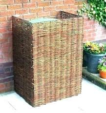 wicker garbage can outdoor wicker trash can garbage cans pail java resin brown outdoor rattan wicker garbage can