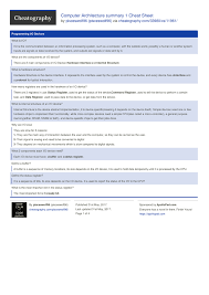 architecture of computer. computer architecture summary 1 cheat sheet by pisceswolf96 download free from cheatography cheatographycom sheets for every occasion of
