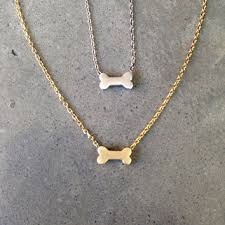 gold dog bone necklace dog jewelry personalize dog lover mothers day gift