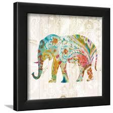 boho paisley elephant ii framed print wall art by danhui nai com