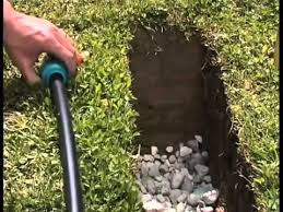 an underground lawn irrigation system