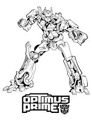 Kleurplaat Optimus Prime Transformers Kleurplaten