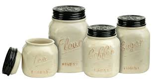sugar flour jars mason jar canister set 4 kitchen counter storage ceramic sugar flour ivory flour sugar flour jars