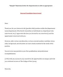Job Offer Rejection Letter Sample Free 39 Job Rejection Letter Templates Samples Template Lab