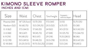 Inseam Measurement Chart By Height Kimono Sleeve Romper Size Chart Hipster Baby Clothes Baby