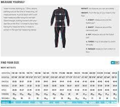 Sharkskin Wetsuit Size Chart Sherwood Bcd Size Chart Www Bedowntowndaytona Com