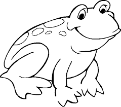 frog color sheet simple