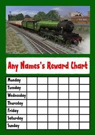 Amazon Com Green Train Star Sticker Reward Chart Office Products