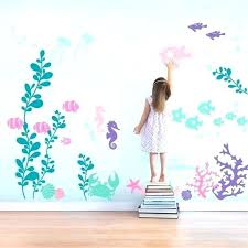 mermaid room ideas under the sea wall decal collection by on mermaid mermaid room ideas under mermaid wall stickers