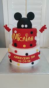 Tastefully Done Mickey Mouse Baseball Baby Shower Cake Serves 25Baby Mickey Baby Shower Cakes