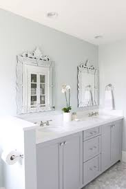 White Floor Bathroom Cabinet The Midway House Guest Bathroom Sw Sea Salt Paint Colors And Gray