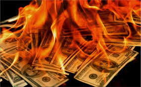 Image result for burning money pics