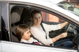 Portrait Stock Image With Picture 57264371 School Photo And Of Image Driving Royalty Daughter Car Mother Young To Free