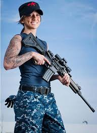 Arms And Charms Petty Officer Jackie Carrizosa Is A Navy Gunners