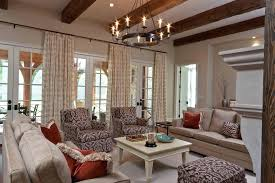 family room chandelier girls transitional with sheers linen club chairs rustic lighting